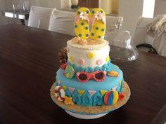 Pastel de playa gracias a My Cake School