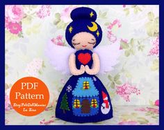A personal favorite from my Etsy shop https://www.etsy.com/listing/210957543/christmas-eve-angel-doll-felt-doll-pdf