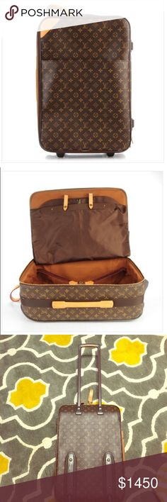 Louis Vuitton Monogram Pegase 55 Luggage✨ Louis Vuitton travel luggage bag!! Good condition, one tear & the normal ware tear from over the years. Features wide pocket on the front, wide leather handle, pull out handle and rollers. Open to all offers but be reasonable please!! ❌❌NO trades!!❌❌ Happy shopping!😊🛍 Louis Vuitton Bags Travel Bags