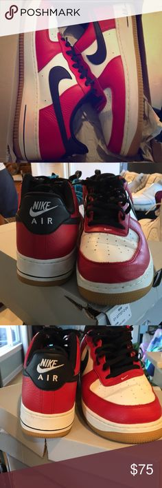 super popular aba58 9b32e Chicago bulls Air Force 1 Couple creases with og box Nike Shoes Sneakers