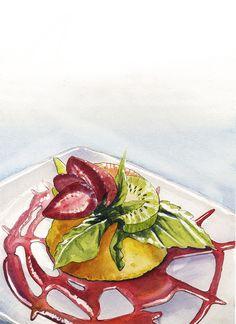 Food Illustration by Alfredo Martinez, via Behance