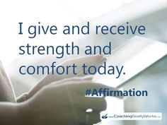 Give and receive strenght :)  #LifeCoaching #LifeCoach #Affirmations #AbeStone #Positive #BeingHappy