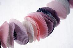 cupcake liner garlands!