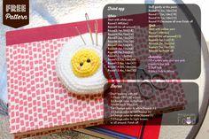 Amigurumi Food: Free pattern Fried egg Pincushion Amigurumi