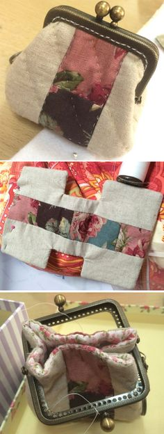 Quilted Coin Purse. DIY in Pictures. http://www.handmadiya.com/2015/10/quilted-purse-fermuar.html