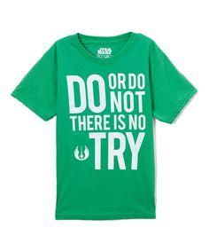 Green 'Do Or Do Not' Tee - Boys
