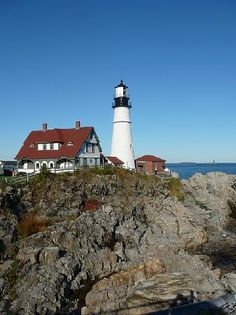 Lighthouse in Portland, Maine.  Love to visit family there!