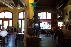 The Sentient Bean. The cool place to go for coffee in Savannah. Great relaxed atmosphere. Cash only.