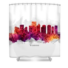Richmond Virginia Cityscape 14 Shower Curtain by Aged Pixel