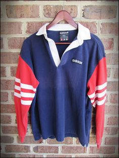 Vintage 90's Adidas Collared Rugby Football Shirt Jersey by RackRaidersVintage, $20.00