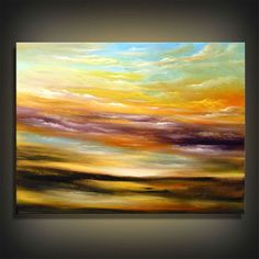 cloud abstract original painting cloud painting abstract painting landscape impressionist 22 x 28 inch Mattsart. $239.00, via Etsy.