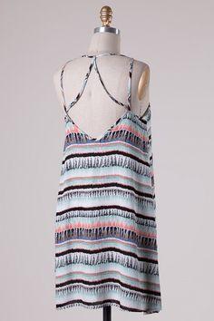 Chelsea Printed Shift Dress (Mint)