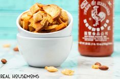 Sweet and spicy HONEY SRIRACHA CHEX MIX makes the perfect game time, movie night, or any time snack. Crunchy and full of flavor, this mix is always a hit! Spicy Honey, Sweet And Spicy, Chex Mix Recipes, Dog Food Recipes, Types Of Snacks, Junk Food, Finger Foods, Perfect Game, Appetizers