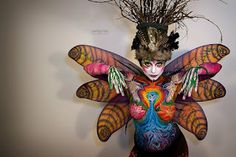 Instructor Alecia R. work (Special Effects, Body painting, Period Makeup dept.) #makeup #makeupartist #beauty #fantasy #bodypainting
