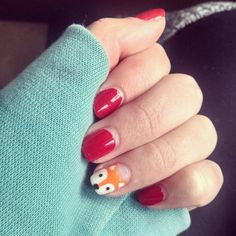 Fox nails! Cuuuute.