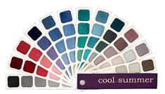 Cool Summer Color Swatch Book