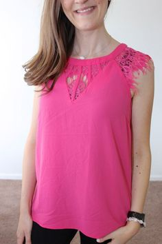 Dear Mary: Can you see if you can send me this top in any color you may have? I love love love it soooo much~ Jarred Lace Detail Cap-Sleeve Blouse from Brixon Ivy
