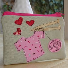 Knitting in hot pink by DinkyDaisy, via Flickr