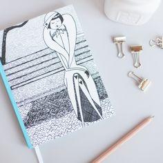 Art by @kategabrielle (aka flapperdoodle), custom writing journal from Storybird.com.