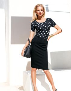 Jerseyrock in der Farbe schwarz - im MADELEINE Mode Onlineshop