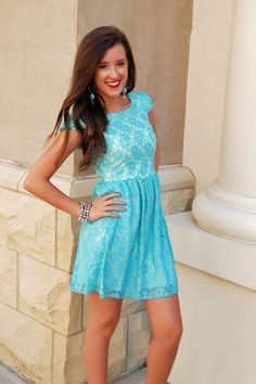 Lace Dress in Tiffany Blue-Possibility for rehearsal dinner? :)