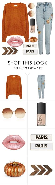 """""""Majestic Beauty"""" by sweet-jolly-looks ❤ liked on Polyvore featuring Étoile Isabel Marant, Topshop, Linda Farrow, NARS Cosmetics, Lime Crime, Rosanna, Improvements, WALL, casual and simple"""