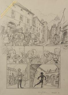 Rocambole page 6 discarded - Federico Bertolucci Comic Art