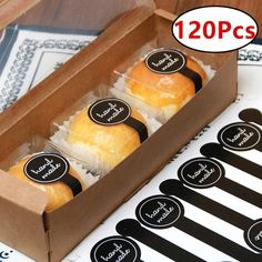 60/120Pcs Long Black Lollipop Design Hand Made Seal Adhesive Sticker For Tins Boxes Bags Diy Hand Made For Gift Cake Baking Sealing Sticker Brownie Packaging, Dessert Packaging, Bakery Packaging, Food Packaging Design, Box Packaging, Chocolate Packaging, Wedding Cake Cookies, How To Make Labels, Bakery Business