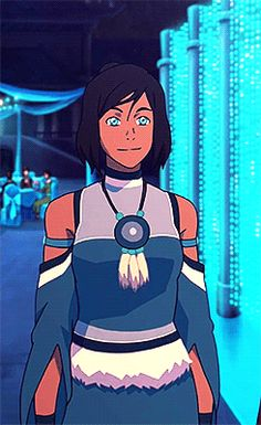 """ Korra in formal Water Tribe apparel "" I LOVE KORRA'S FINALE DRESS MORE THAN LIFE ITSELF"