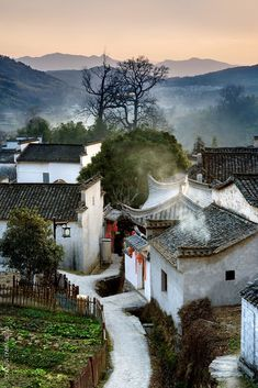 Village in Anhui, China.  Travel.  For similar pins please follow me at - https://www.pinterest.com/annelouise1959/travel-our-amazing-world/