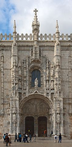 Mosteiro dos Jerónimos/Igreja de Santa Maria de Belém, aan de Praça do Império, stadsdeel Belém, Lisboa. Zuidportaal