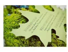 Gourmet Invitations Blog: Style Me Pretty: Enchanted Forest Wedding the Invitation