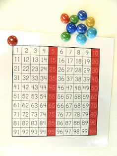Madame Belle Feuille: tableau de 100. Good game for learning numbers up to 100.