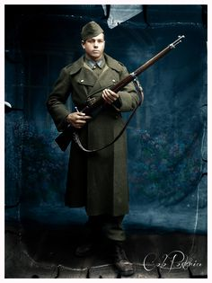 A-Romanian-soldier-with-a-Steyr-Mannlicher-M-39-rifle-in-his-hands, Pin by Paolo Marzioli