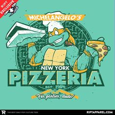 Mikey's Pizzeria T-Shirt - TMNT T-Shirt is $13 today at Ript!