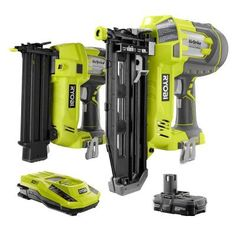 RYOBI introduces the ONE+ Lithium-Ion Cordless AirStrike Straight Finish Nailer (Tool-Only) with Sample Nails. The RYOBI ONE+ AirStrike Straight Finish Nailer drives finish nails ranging from in. Ryobi Tools, Ryobi Cordless Tools, Cordless Drill, Finish Nailer, Essential Woodworking Tools, Woodworking Shop, Woodworking Quotes, Woodworking Clamps, Wooden Lanterns