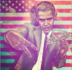 Obama by Fabian Ciraolo #art
