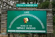 Webster, MA lake - recognized as the longest place name in the US
