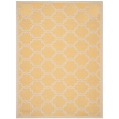 Courtyard Yellow/Beige 8 ft. x 11 ft. Indoor/Outdoor Rectangle Area Rug