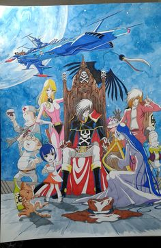 """""""Space Pirate Captain Harlock"""" By Jerome Alquie Space Pirate Captain Harlock, Nausicaa, Deviantart Pokemon, Brothers Grimm Fairy Tales, Manga Anime, Anime Art, Tokyo Ravens, Captain My Captain, Fan Art"""
