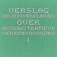 Verslag beleidsverklaring over Administratieve Vereenvoudiging (Staatssecretaris Theo Francken) - Koen Metsu