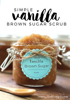 Vanilla Brown Sugar Scrub - Somewhat Simple ~ http://www.somewhatsimple.com/vanilla-brown-sugar-scrub/