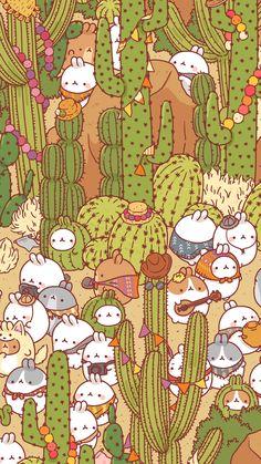 molang and catus Wallpapers Kawaii, Cute Cartoon Wallpapers, Animes Wallpapers, Kawaii Doodles, Cute Kawaii Drawings, Kawaii Art, Sanrio Wallpaper, Kawaii Wallpaper, Wallpaper Backgrounds