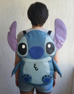 Adorable and big Stitch backpack for cosplay (Lilo and Stitch) - Christmas-Desserts Lilo Stitch, Lilo And Stitch Toys, Lilo And Stitch Quotes, Cute Stitch, Cute Angel Costume, Pijama Disney, Lelo And Stich, Stitch Stuffed Animal, Big Bean Bags