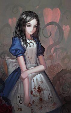 Alise, Art — Alice in Wonderland vs. American McGee's Alice