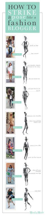 How to strike a pose like a fashion blogger
