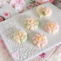 Moon Cake, Japanese Sweets, Art Pics, What You Eat, Tea Bowls, Pretty Pastel, Something Sweet, Mochi, Food Art