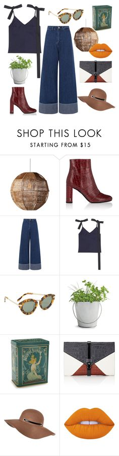 """""""Untitled #217"""" by samanthaanichols on Polyvore featuring Dot & Bo, Yves Saint Laurent, Sea, New York, Jacquemus, Karen Walker, Potting Shed Creations, Kiss That Frog, Little Liffner, River Island and Lime Crime"""