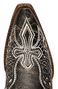 Stylish & sassy Corral cowgirl boots for any occasion. Distressed black leather boots boast white leather wing inlays on vamp & shaft. Corral Cowgirl Boots, Cowboy Boots Women, Western Boots, Black Leather Boots, White Leather, Angel Wings Art, Castor Oil For Hair, White Wings, Tribal Tattoos