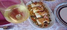 Calamares rellenos con salsa de curry. La salsa de curry con almendras dan un sabor especial y exóticos a los alimentos. ¡Este plato tienes que probarlo!...